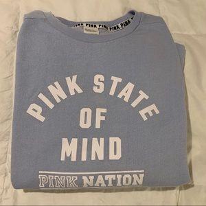 PINK VICTORIAS SECRET Blue Sweatshirt
